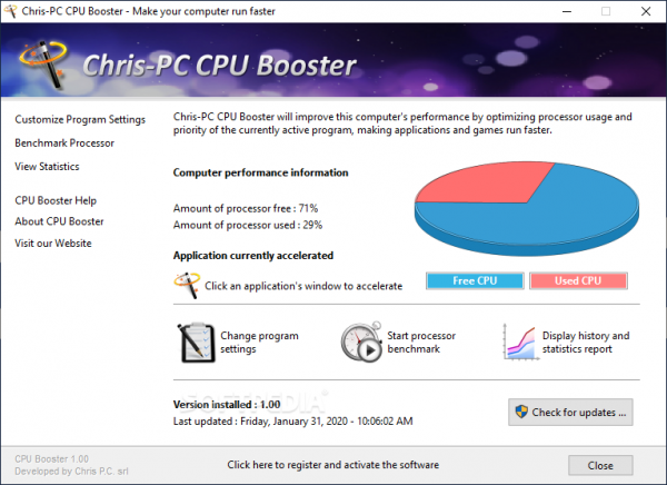 Chris-PC CPU Booster 1.12.21 Crack Full Version [Win + Mac]