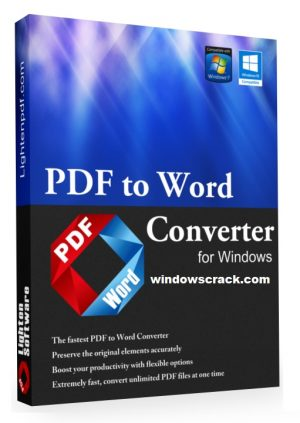 Lighten PDF to Word Converter 6.2.5 With Serial Key [Latest]